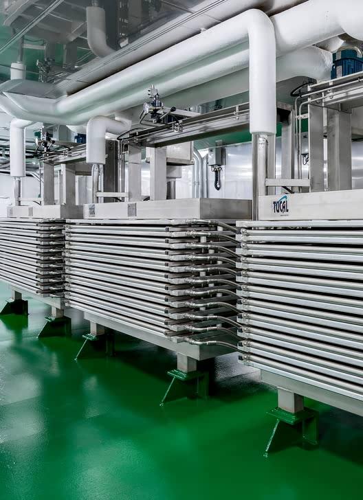 Horizontal plate freezers onland installation
